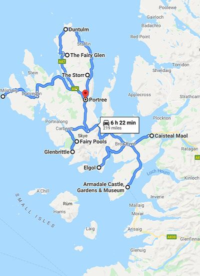 Google Map Skye
